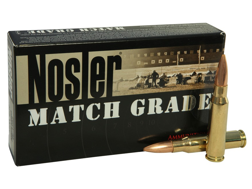 Nosler Match Grade Ammunition 308 Winchester 155 Grain Custom Competition Box of 20