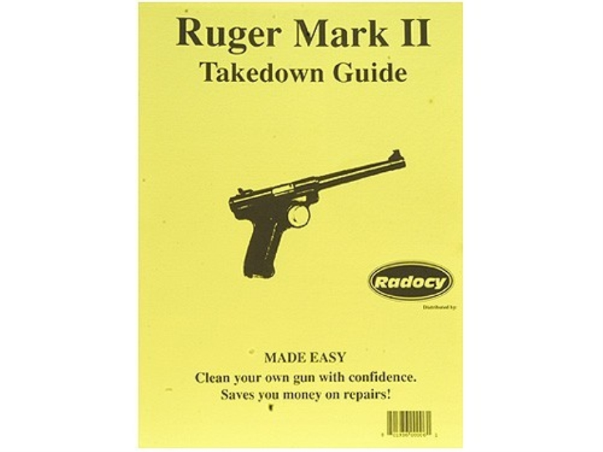 "Radocy Takedown Guide ""Ruger Mark 2"""
