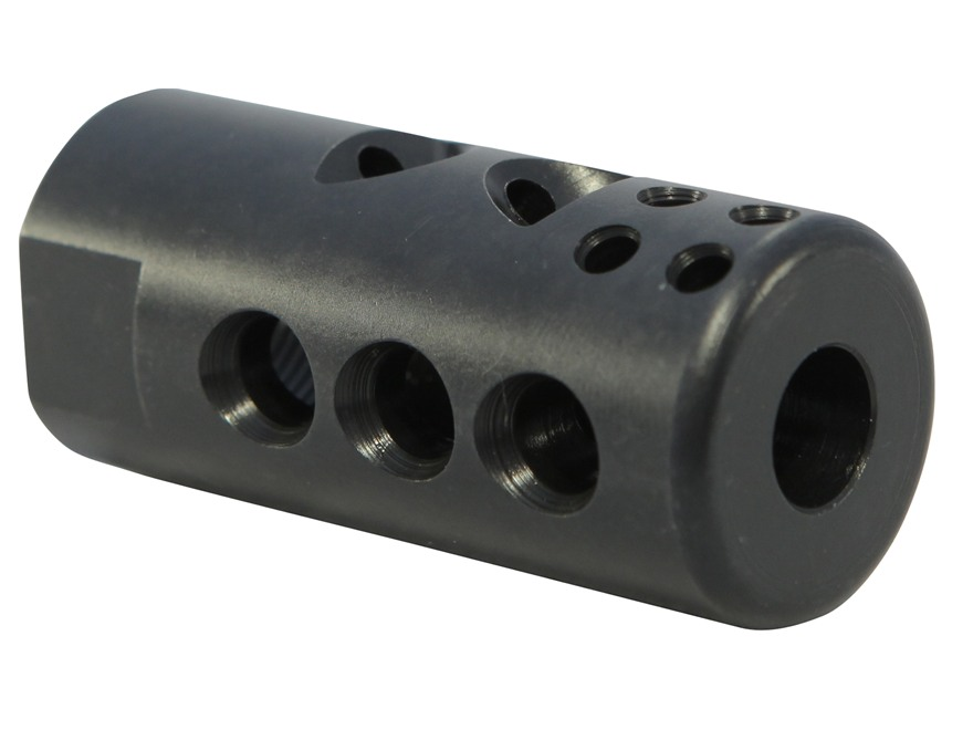 "Smith Enterprise Good Iron Muzzle Brake 5/8""-24 Thread with Jam Nut AR-10, LR-308 Matte"