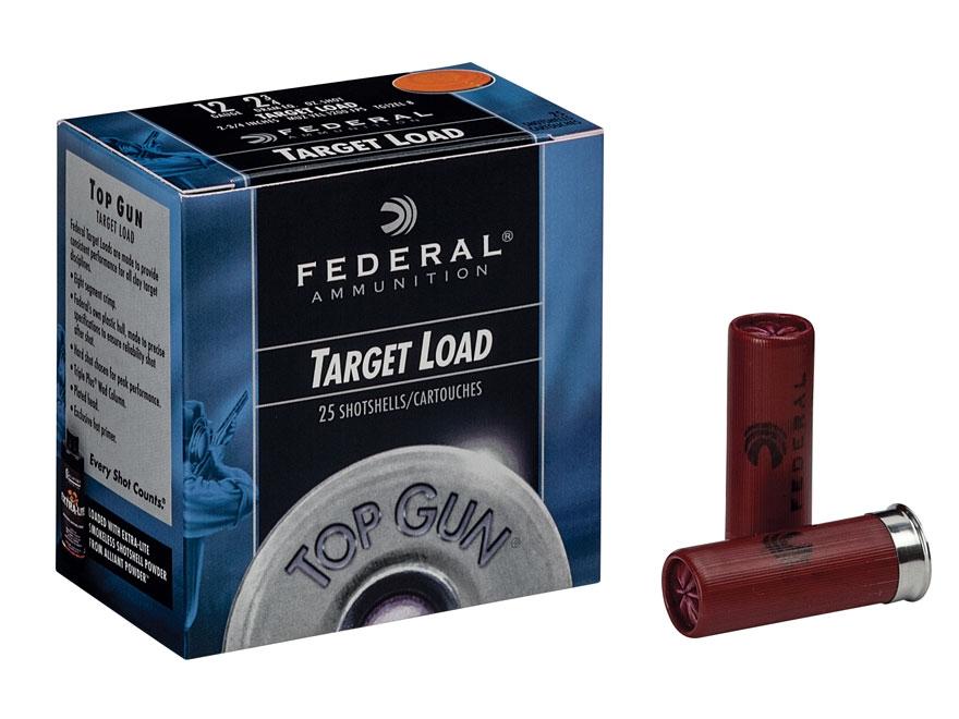 """Federal Top Gun Ammunition 12 Gauge 2-3/4"""" 1-1/8 oz #7-1/2 Shot"""
