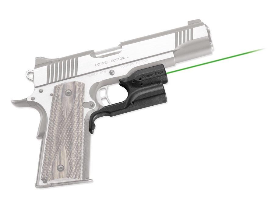 Crimson Trace Laserguard Kimber, S&W 1911 Green Laser Polymer Black