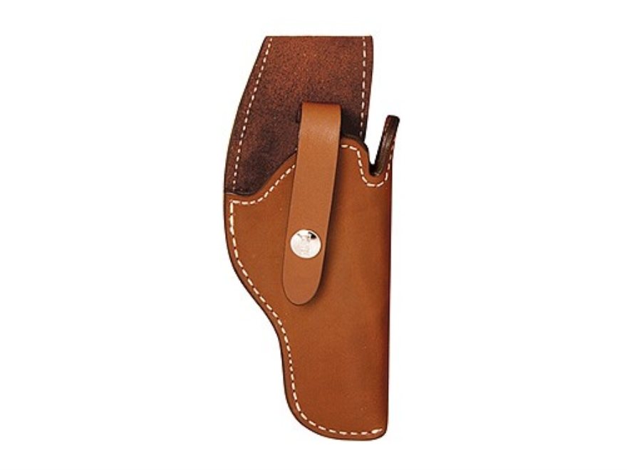 Hunter 2300 SureFit Holster Right Hand Browning Hi-Power, 1911 Government, Commander, Ruger Mark I, Mark II, Walther P38 Lined Leather Tan