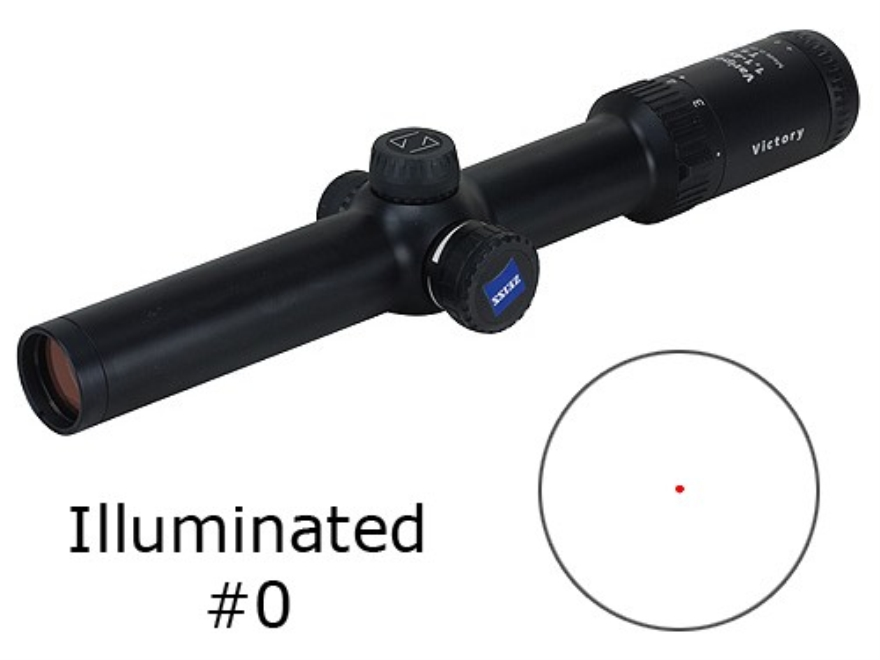 Zeiss VariPoint VM/V Rifle Scope 30mm Tube 1.1-4x 24mm First Focal Illuminated #0 Reticle Matte