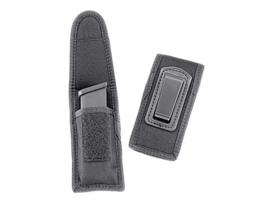 Uncle Mike's Undercover Single Magazine Pouch with Belt Clip Nylon Black