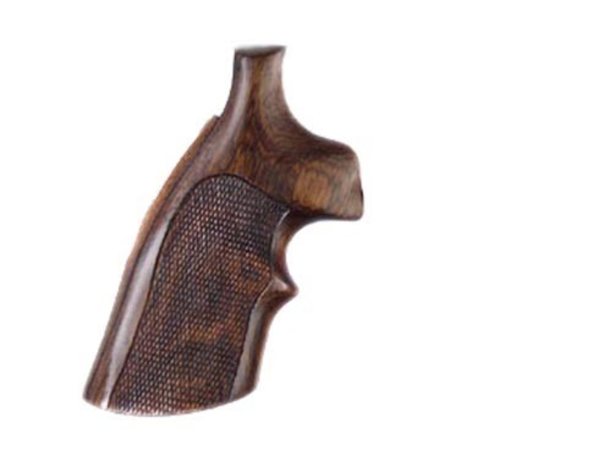 Hogue Fancy Hardwood Grips with Top Finger Groove Dan Wesson Small Frame Checkered