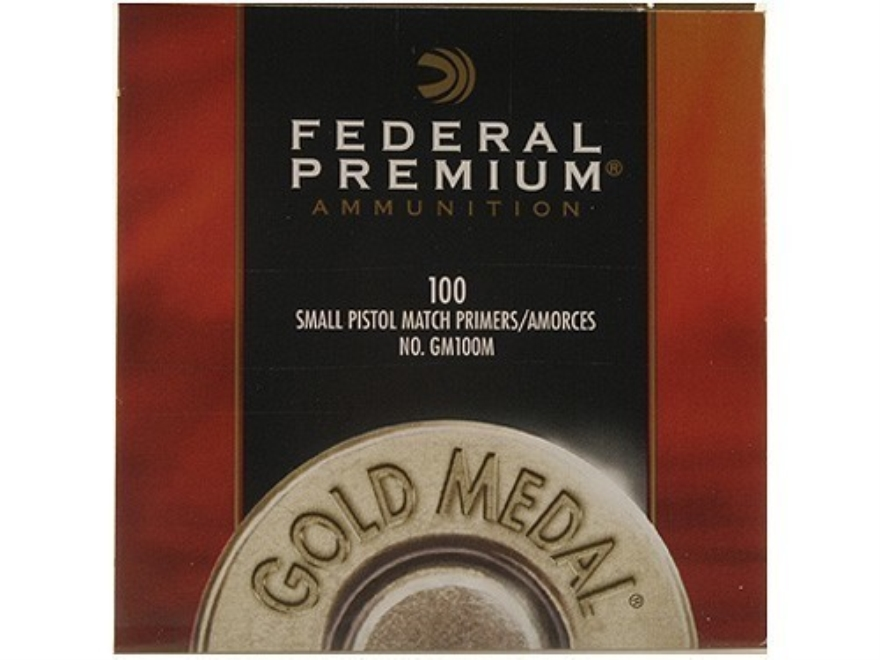 Federal PremiumGold Medal Small Pistol Match Primers #100M