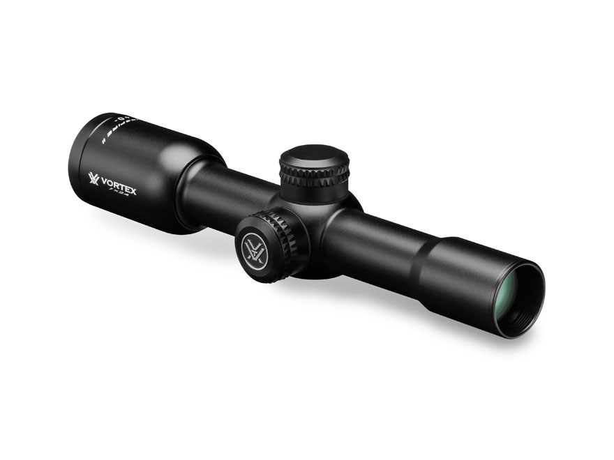 Vortex Optics Crossfire II Rifle Scope 1x 24mm V-Plex Reticle Matte