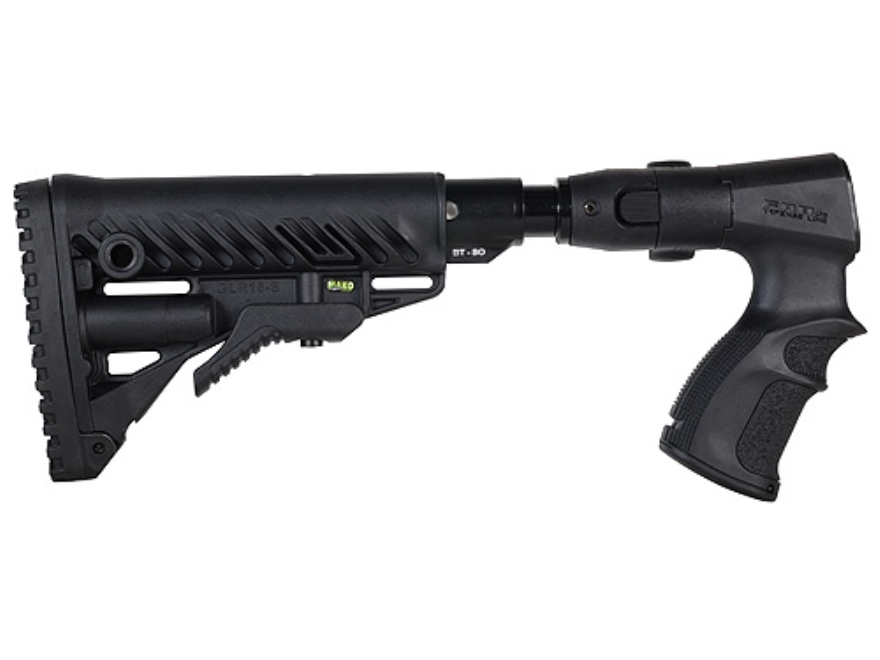 Mako M4-Style Collapsible Side Folding Buttstock with Recoil Reducing Shock Absorber Remington 870 Synthetic Black