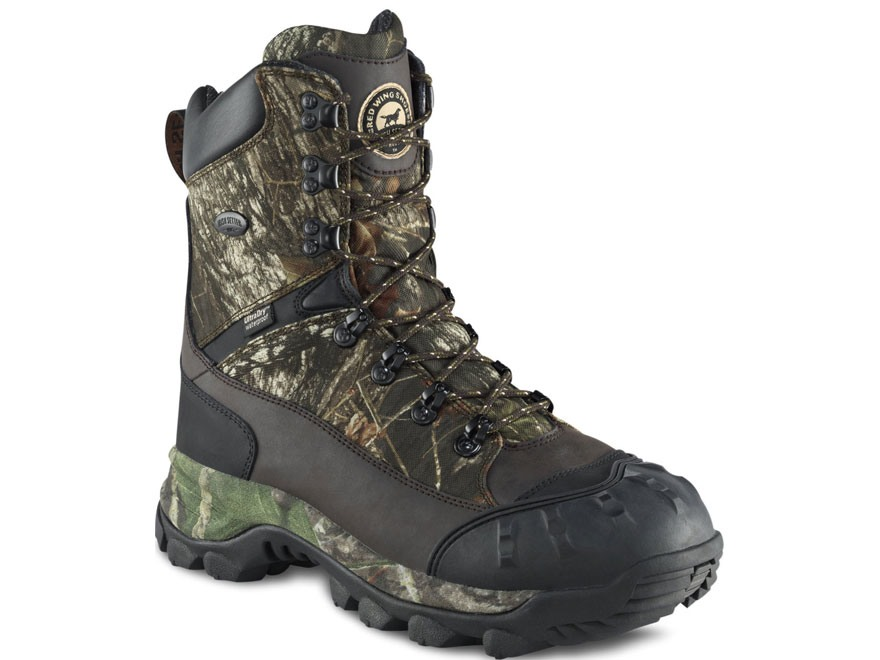 "Irish Setter Grizzly Tracker 9"" Waterproof 1000 Gram Insulated Hunting Boots Nylon and Leather Mossy Oak Break-Up Camo Men's"