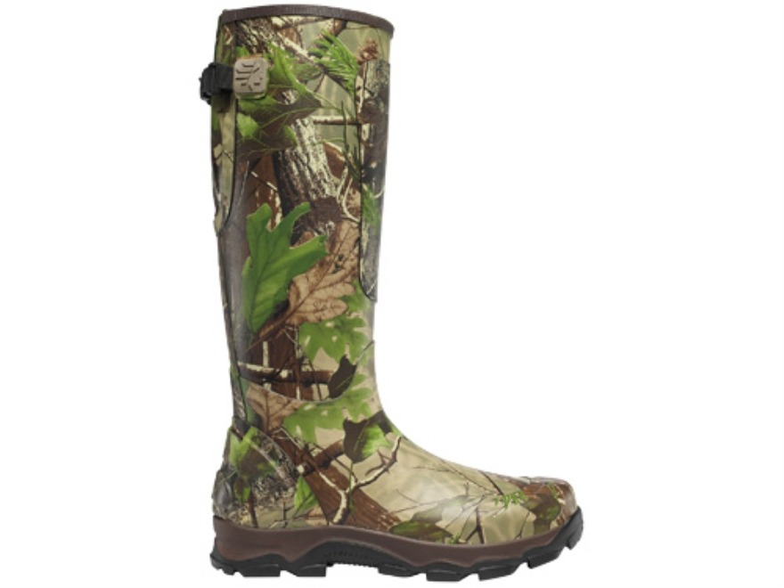 "LaCrosse 4XBurly 18"" Waterproof Uninsulated Hunting Boots Rubber Clad Neoprene Realtree APG Camo Men's 10 D"