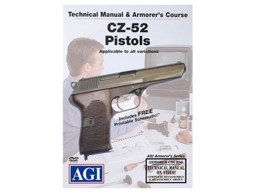 "American Gunsmithing Institute (AGI) Technical Manual & Armorer's Course Video ""CZ-52 P..."