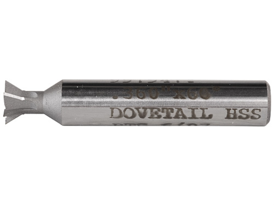 "PTG Dovetail Sight Base Cutter .360"" x 60-Degree High Speed Steel"