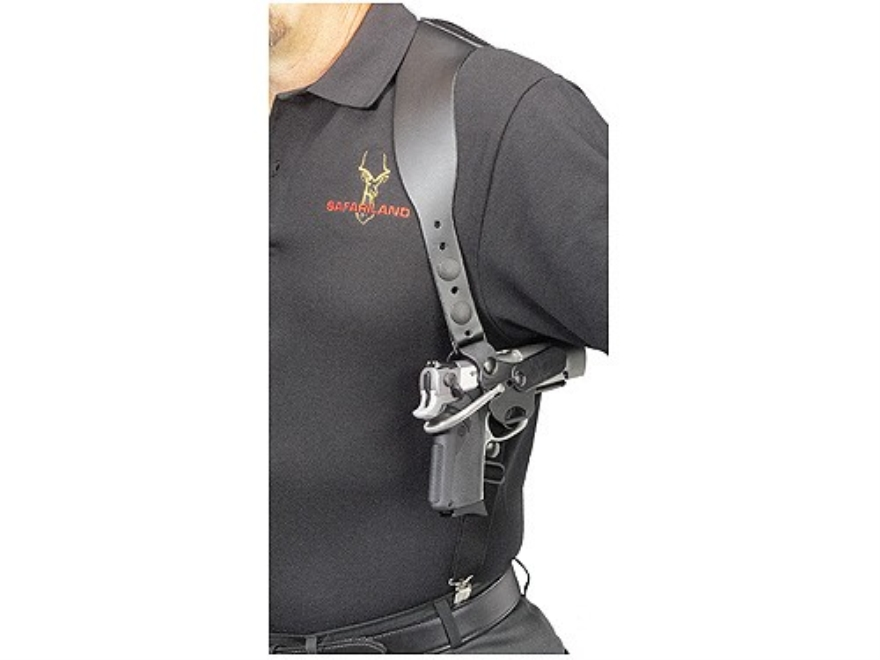 Safariland 1090 Gun Quick Shoulder Holster Medium and Large Frame Pistol Polymer Black