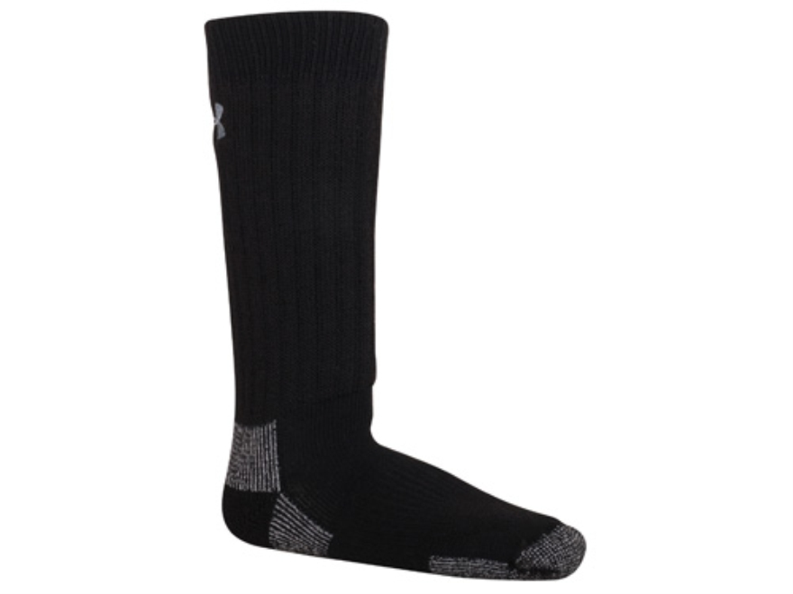 Under Armour Men's UA Scent Control Crew Socks Polyester Wool Blend Black Large (9-12-1/2)