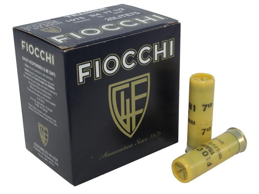 "Fiocchi Exacta Superior Target Trainer Ammunition 20 Gauge 2-3/4"" 3/4 oz #7-1/2 Shot"