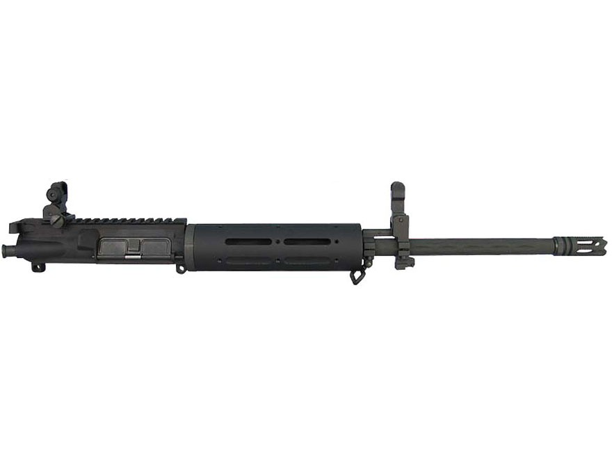 "Yankee Hill AR-15 Customizable Carbine Upper Assembly 5.56x45mm NATO 1 in 7"" Twist 16"" Fluted Barrel Chrome Lined with Customizable Free Float Handguard, Flip-Up Sights, Flash Hider"