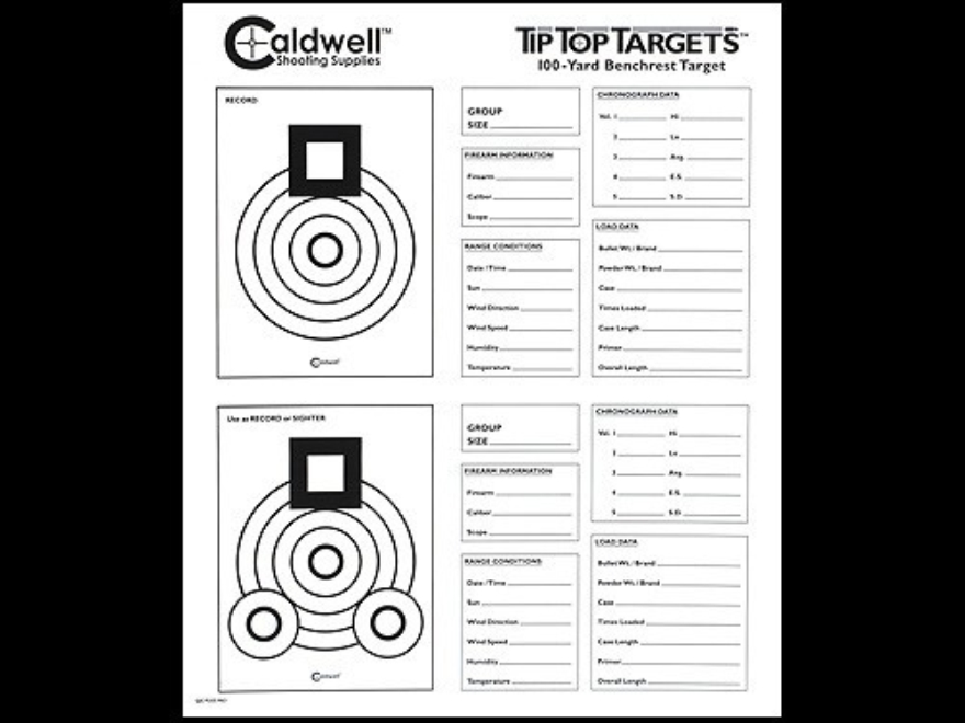 Caldwell Tip Top Target 100 Yard Benchrest Package of 25