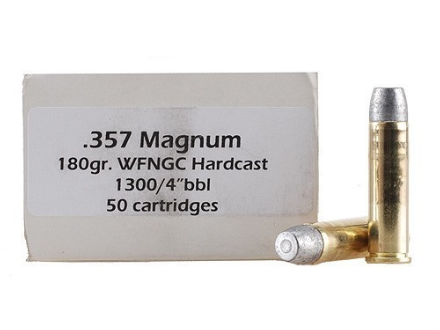 Doubletap Ammunition 357 Magnum 180 Grain Hardcast Solid Wide Flat Nose Gas Check Box o...