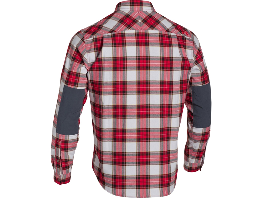 Under armour men 39 s borderland flannel shirt long sleeve for Cotton polyester flannel shirts