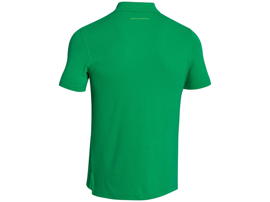 Under armour men 39 s fish hook polo shirt short sleeve polyester for Polyester fishing shirts