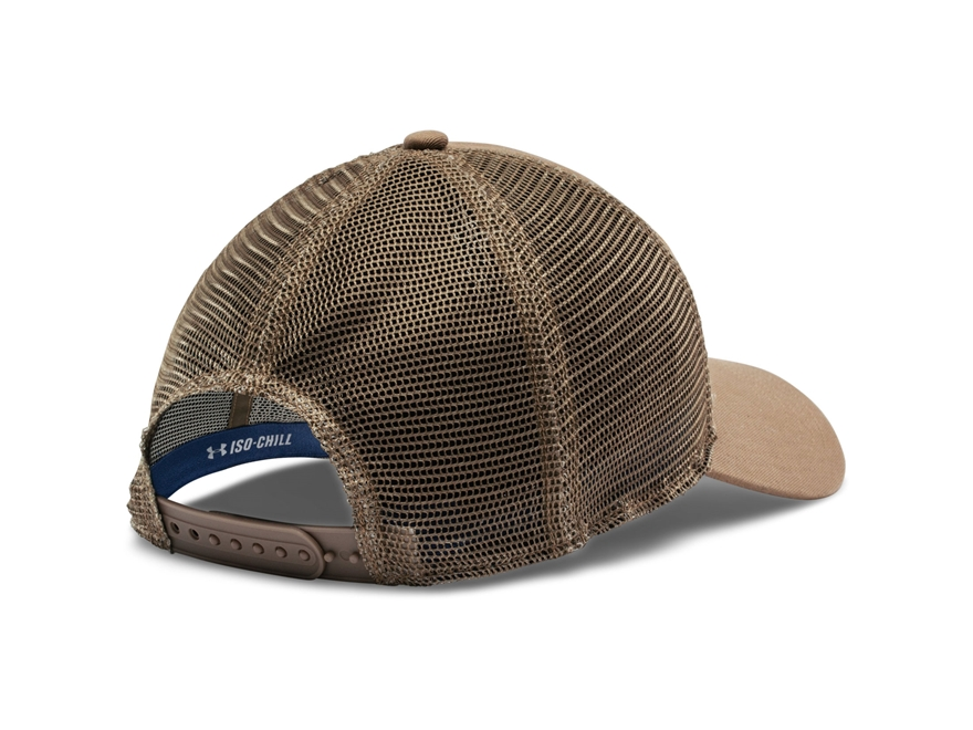 Under armour fish hook patch cap synthetic blend deer hide for Under armour fish hook hat