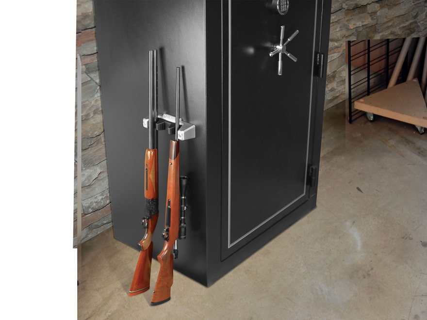 Lockdown 3 Gun Magnetic Barrel Rack Polymer Gray Black