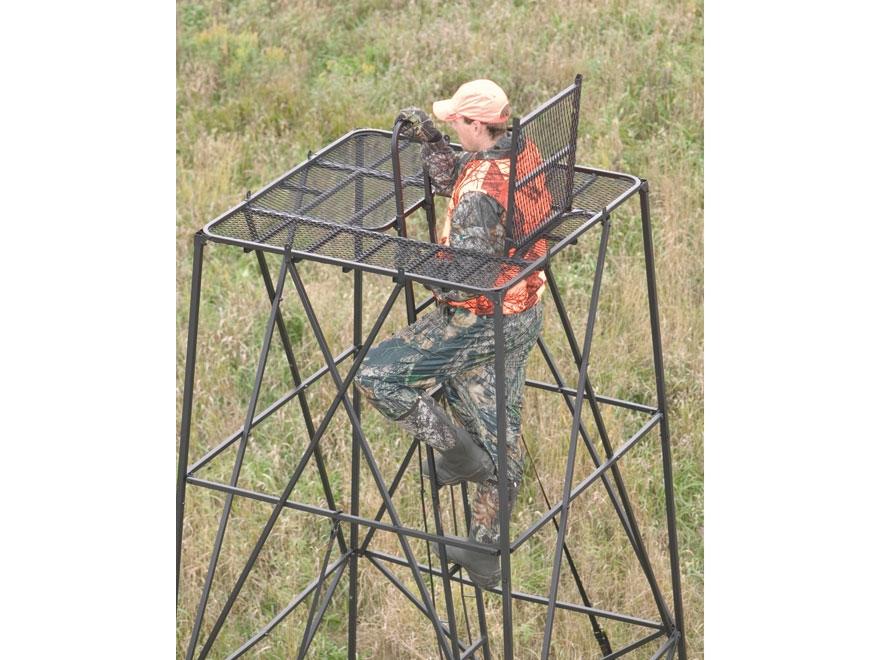 Big game the booster box blind stand steel black for Box blind platform