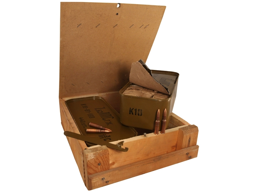 Military Surplus Ammo 7.62x54mm Rimmed Russian 148 Grain Full Metal