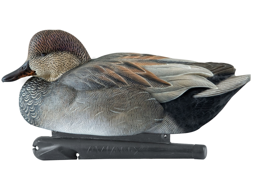 ... detail of Avian-X Topflight Floater Gadwall Duck Decoy Pack of 6