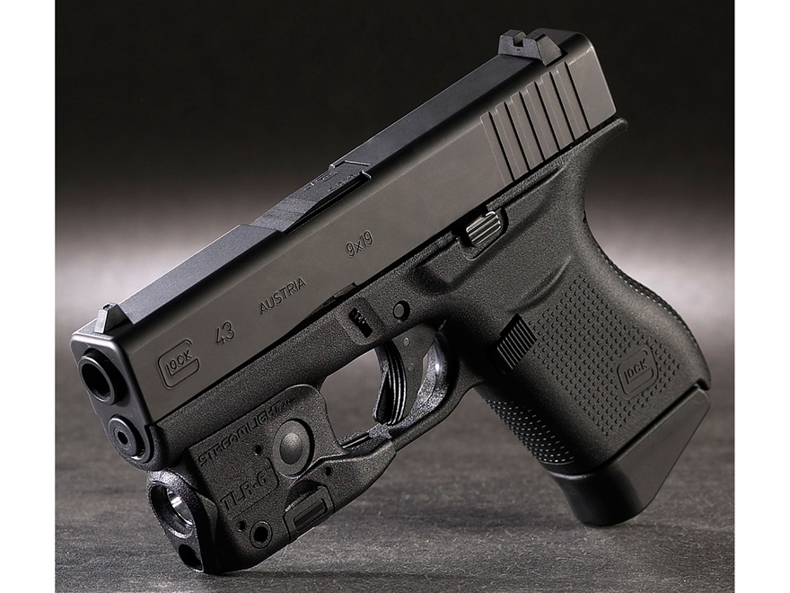 Streamlight Tlr 6 Glock 42 43 Weaponlight Led Laser Polymer