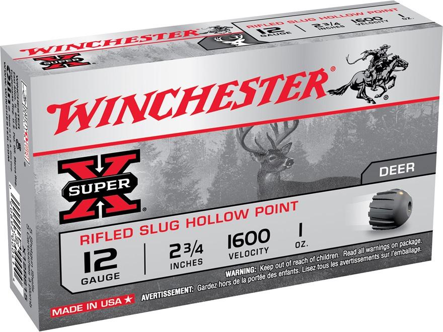 Winchester super x ammo 12 ga 2 3 4 1oz rifled slug for 12 gauge slug ballistics table