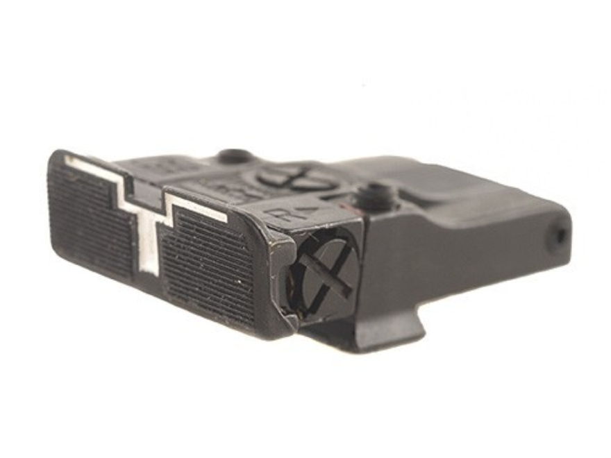 Glock 19 Adjustable Rear Sight http://www.midwayusa.com/product/251769/millett-series-100-adjustable-rear-sight-glock-17-17l-19-20-21-22-23-steel-blue-white-outline