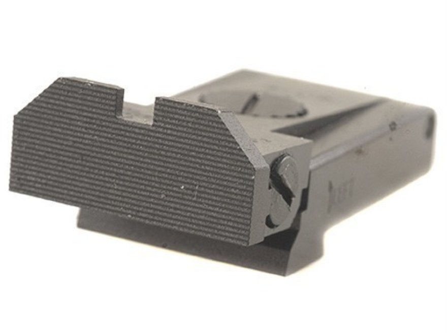 Glock 19 Adjustable Rear Sight http://www.midwayusa.com/product/750466/kensight-adjustable-rear-sight-glock-17-22-24-31-34-35-steel-black-beveled-blade-fully-serrated