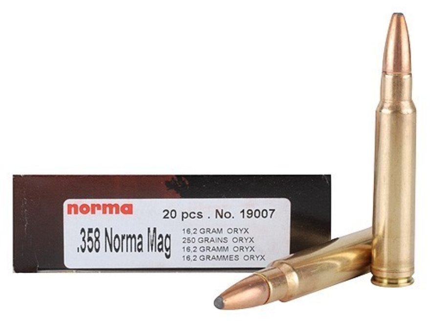 Norma Ammo 358 Norma Mag 250 Grain Oryx Protected Point ...