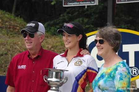 Larry and Brenda Potterfield with the 2012 Bianchi Cup Junior Champion Tiffany Piper