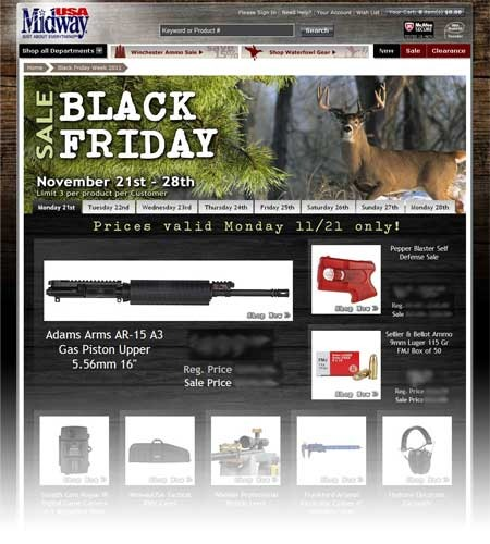 2011 Black Friday & Cyber Monday webpage
