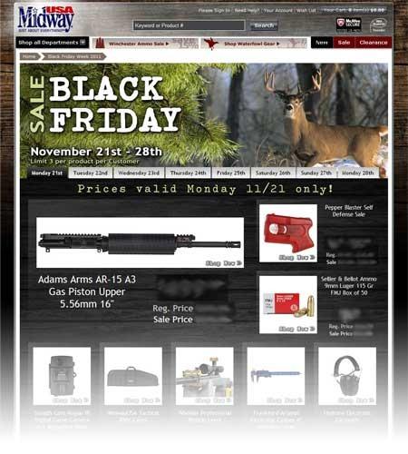 2011 Black Friday & Cyber Monday webpage