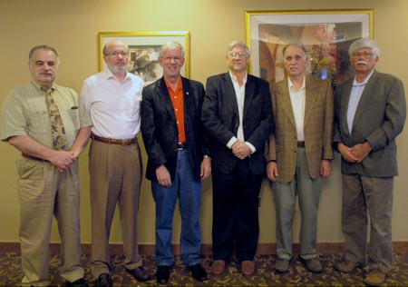(Left to Right) Original Mid-Missouri FNRA Committee Members Jim Joy, Dick Thomas, Larry Potterfield, John McGee, Tom Mendenhall, Bob Heidenreich (photo courtesy of NRA Field Operations Division)