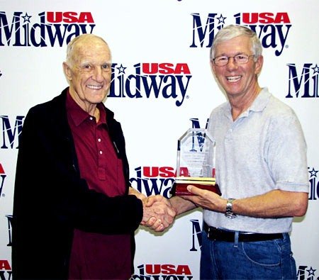 Larry Potterfield (right) pictured with KSRA Foundation President Bob Robel