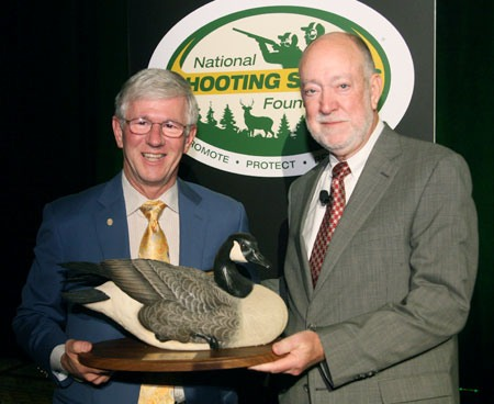 Larry Potterfield, Founder and CEO of MidwayUSA with Bob Scott, NSSF Board of Governors Chairman