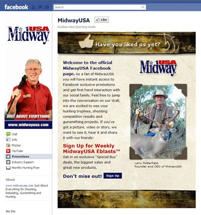 MidwayUSA launches Facebook page