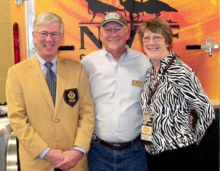 Larry and Brenda Potterfield with George Thornton (middle), NWTF CEO, at the 2011 Convention.