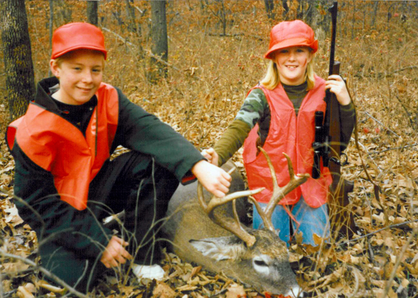 What a great confidence builder for an 11 year old girl to shoot such a nice deer.  Of course her brother was jealous!