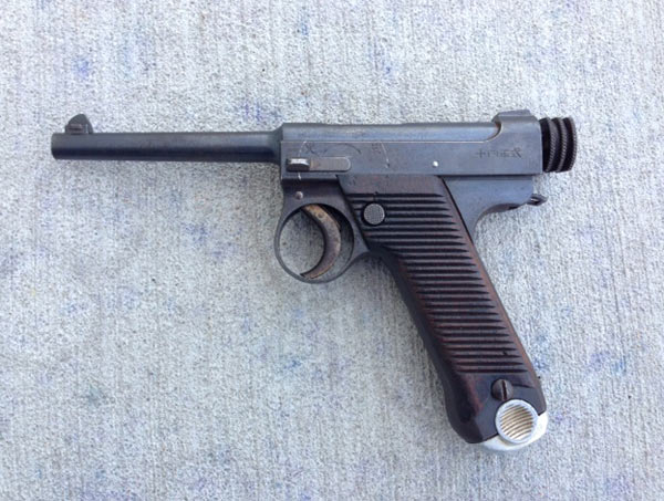 The Nambu Type 14 was the principle sidearm of Japanese troops in WWII.  This is an early small guard version, made in November, 1932.