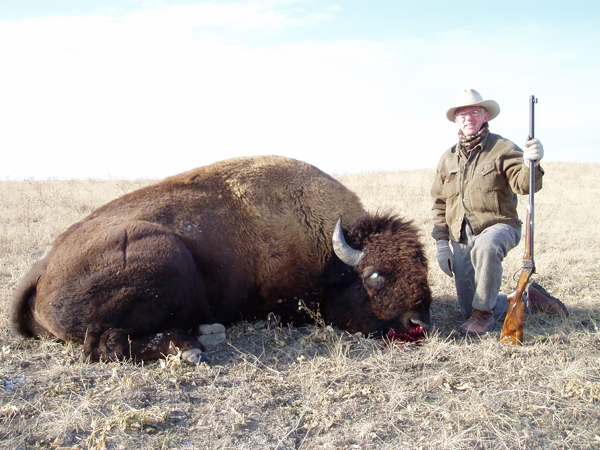 This is an old bull, with a prime hide.  Yes, it was really cold!