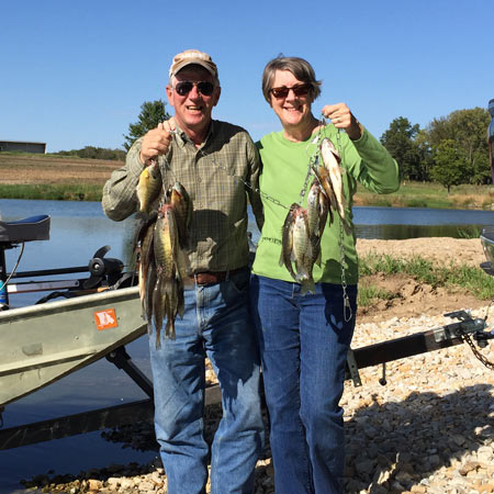 We kept 25 fish in total, 16 crappie and nine bluegill.  (Photo by Greg Kreutzer)