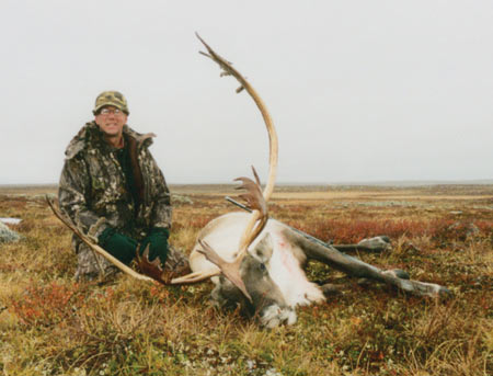 My first of two caribou taken on this hunt.  You can see the 'barren ground', from which this species gets its name.