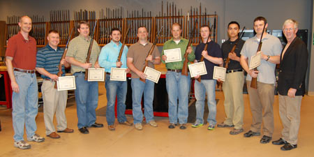 Graduation day for eight Employees; instructors Ryan Fischer on the left and myself on the right.