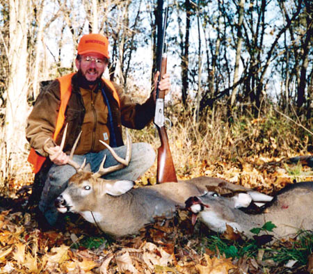 These were both very heavy-bodied deer and Russell was kind enough to gut both of them.