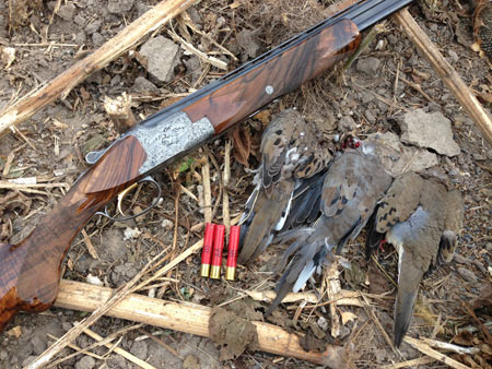 Browning Superposed, Diana Grade 410, with a few doves.